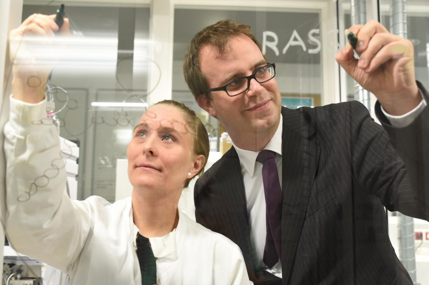 Senior author Kaan Boztug and first author Elisabeth Salzer. Image Credit: CeMM/Wolfgang Däuble