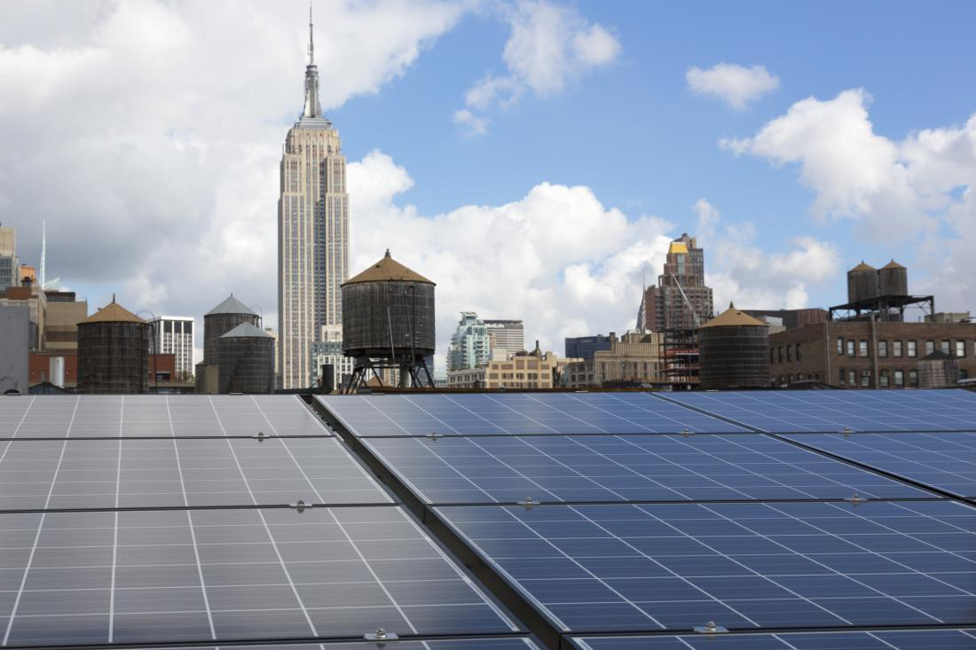 NYC solar panels. Photo: Neil Beckerman-Getty Images