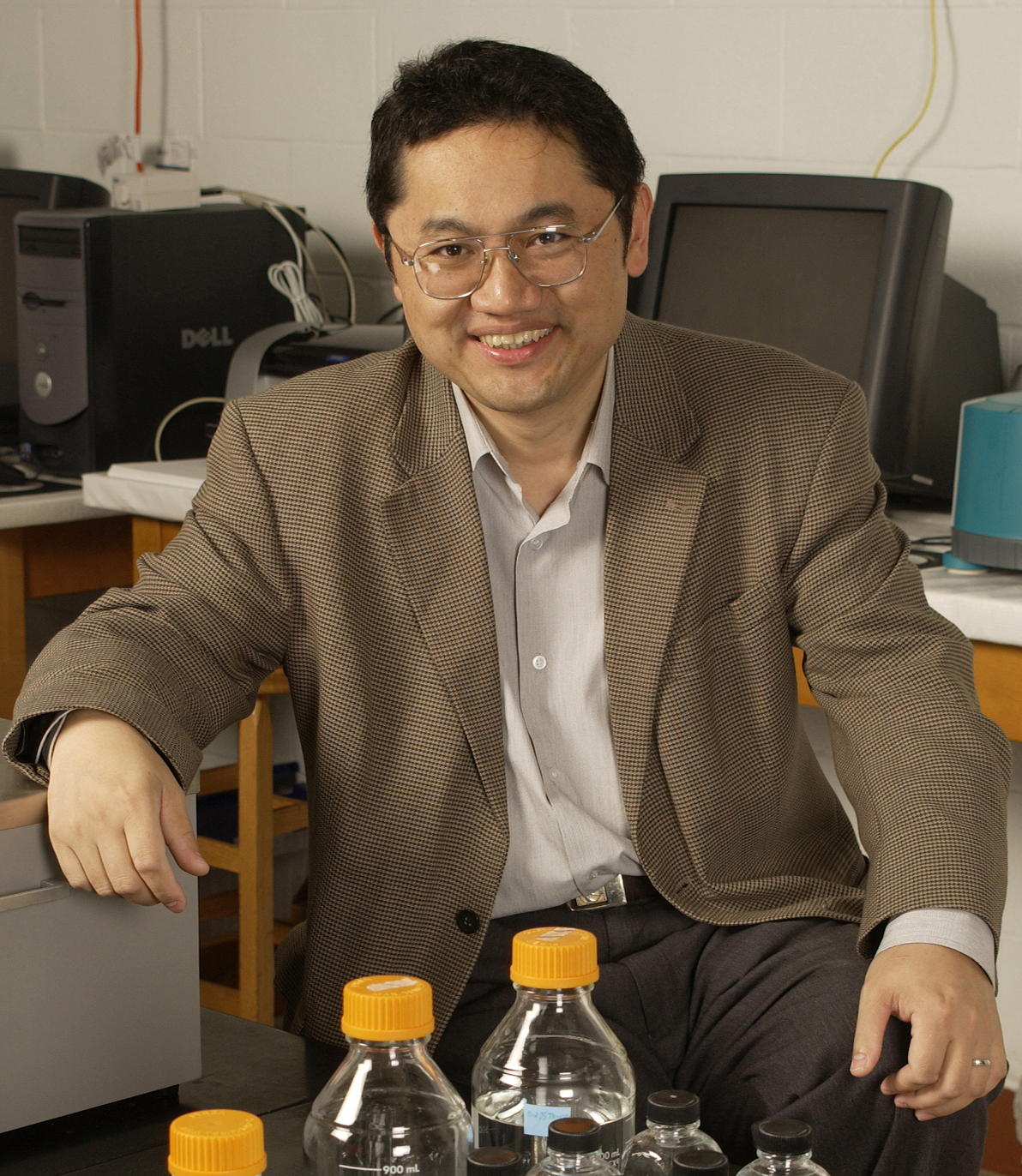 Dongping Zhong, the Robert Smith Professor of physics at The Ohio State University. Photo by Jo McCulty, courtesy of The Ohio State University.