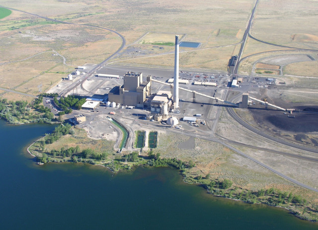 The coal fired power plant in Boardman, Oregon