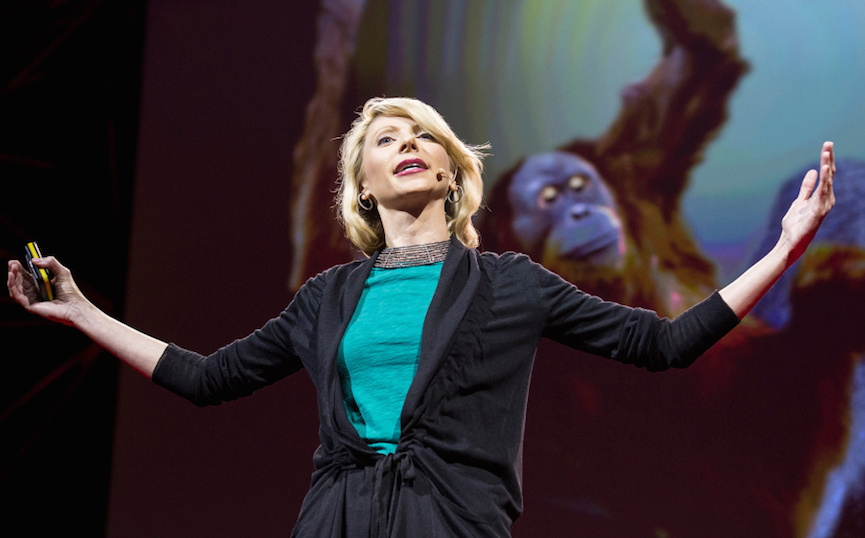 Amy Cuddy during her TED talk.
