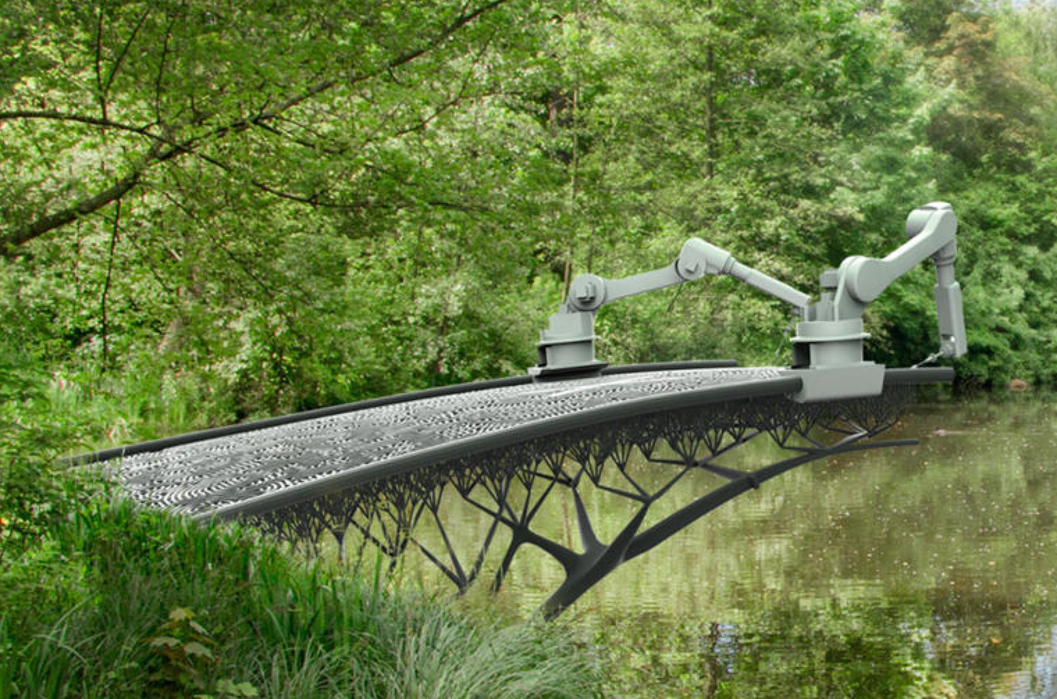 This is an artist's rendition of what the bridge-building project might look like.