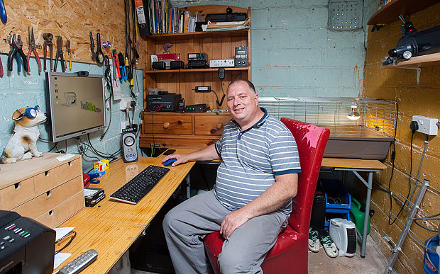 52-year old Adrian Lane successfully contacted the International Space Station using amateur radio equipment.