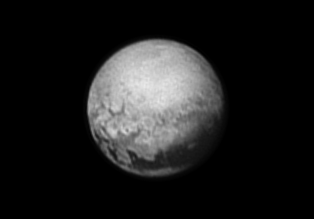 It's black and white, but it's one of the most detailed images ever taken of Pluto