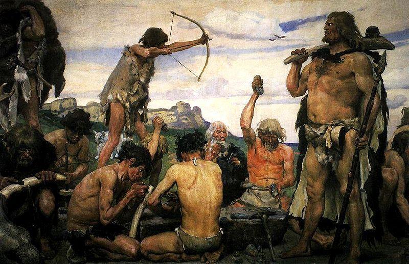 Depiction of the Stone Age by Viktor Vasnetsov
