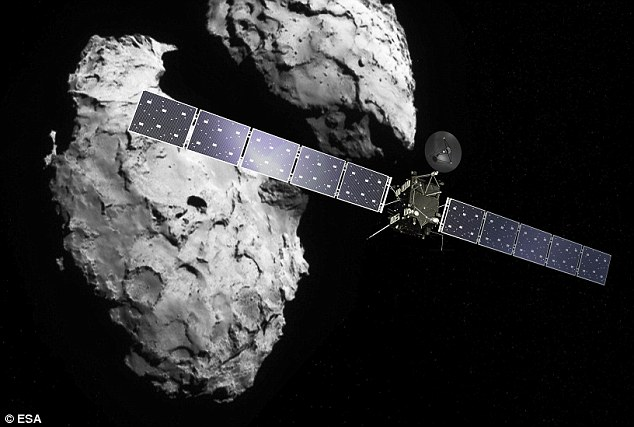 The Rosetta probe (illustrated), which carried the Philae lander, launched into space in 2004. This week it hit space gas that threatened the mission