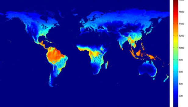 Evapotranspiration data via MODIS/NASA