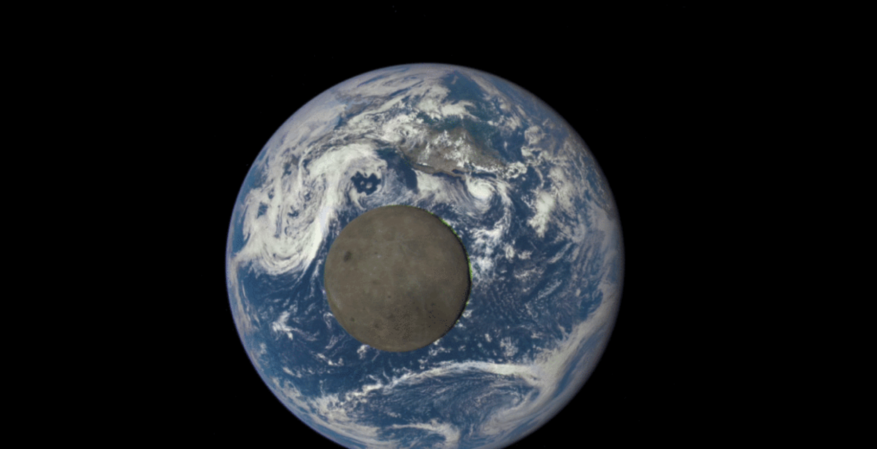 NASA captures the dark side of the moon with the Deep Space Observatory.