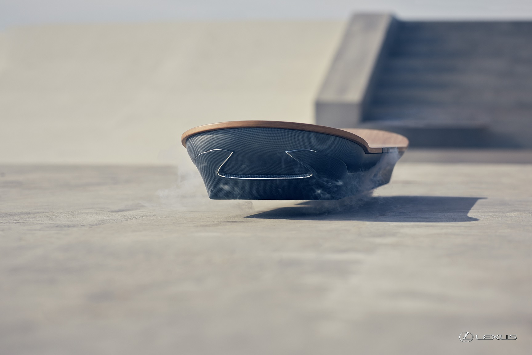 This hoverboard uses magnets instead of propellers to float.