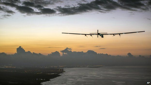 Solar Impulse flies only with energy harnessed from sunlight; no fuel of any kind.