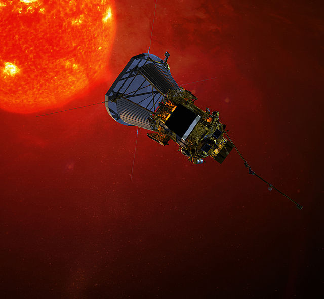 An artist's conception of the Solar Probe Plus as it approaches the Sun