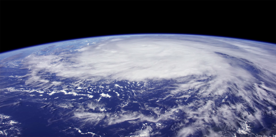 A view of the Earth taken by a 4K video camera now onboard the ISS and operational