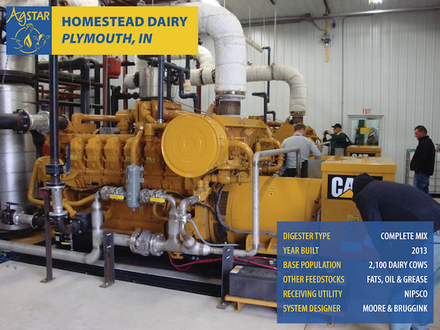 The biogas generator used at Homestead Dairy