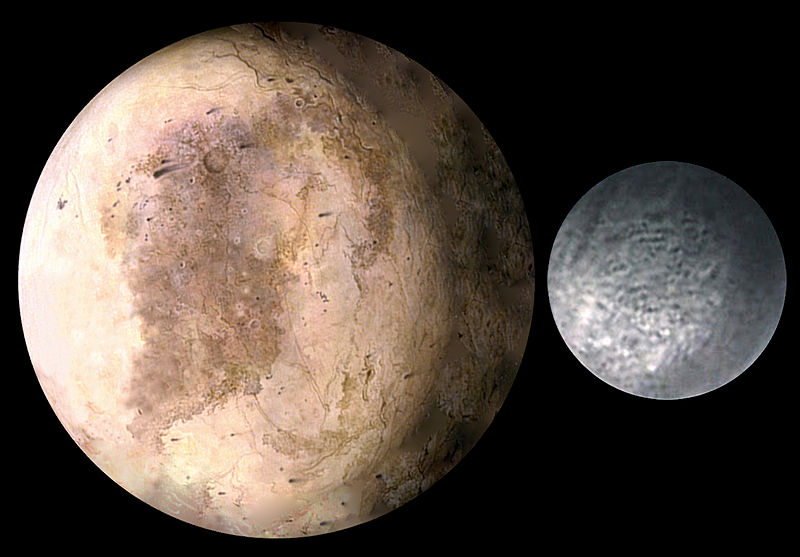 An artist's interpretation of Pluto, with its moon Charon
