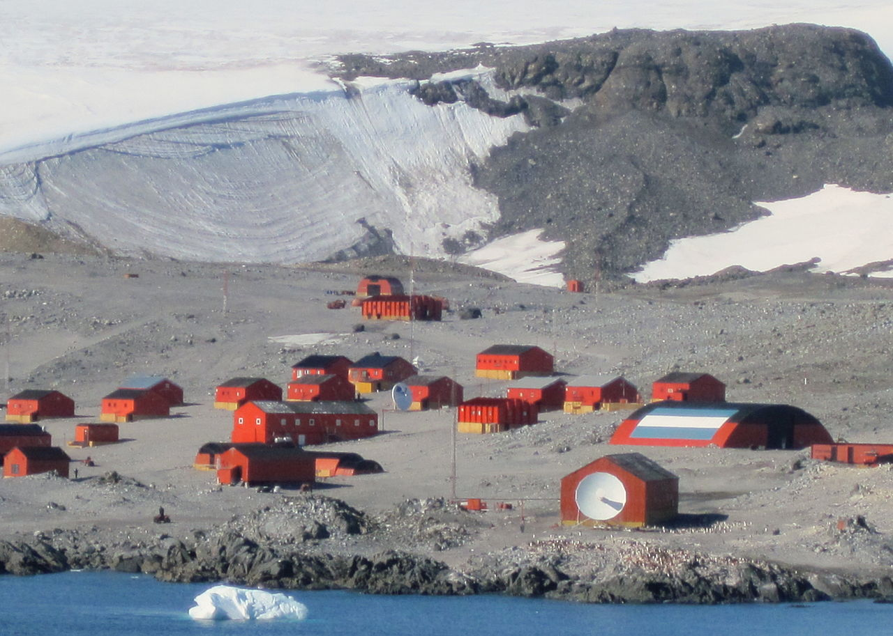 Argentina's Esperanza Base on the northern tip of the Antarctic Peninsula: the hottest place in Antarctica.