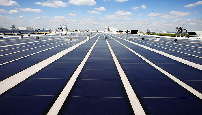 Rooftop solar panels like these are helping NY state change its energy future.
