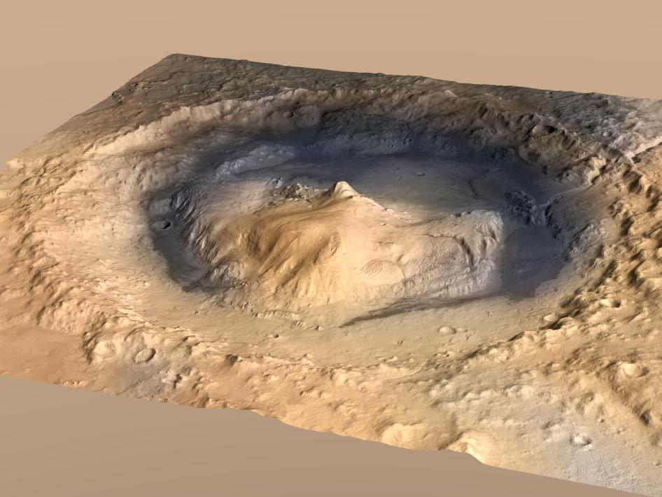 The Curiosity rover is currently studying Gale Crater on Mars for clues to life