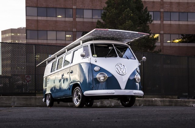 Theoblad's solar powered 1966 VW bus