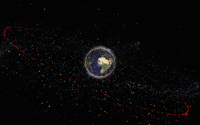 The thousands of pieces of space debris, and these are just the trackable ones!