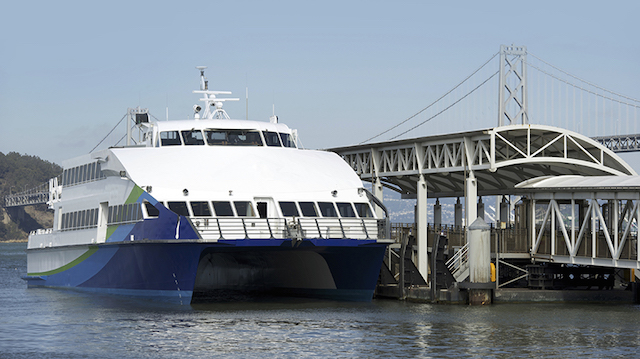 A high speed ferry much like the one that will be designed for the SF-BREEZE project