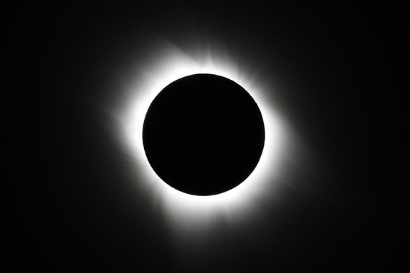 This image shows the total solar eclipse on July 11, 2010.