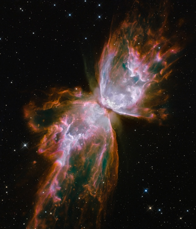 The Butterfly Nebula taken by the Hubble Space Telescope