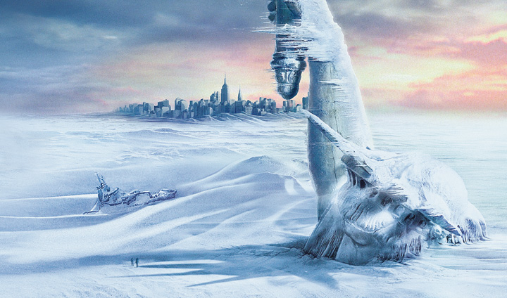 A mini ice age could occur in 2030 as solar activity is expected to decline. (Note: this image is a dramatization, and not a real event)