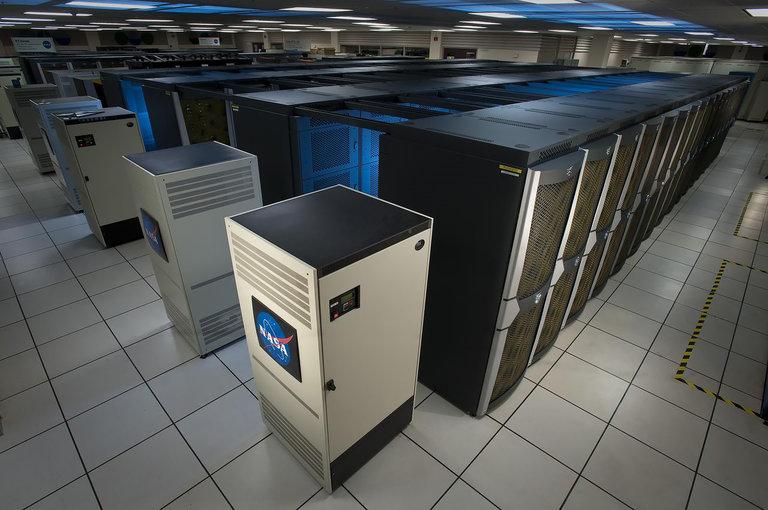 An illustration of a NASA supercomputer.