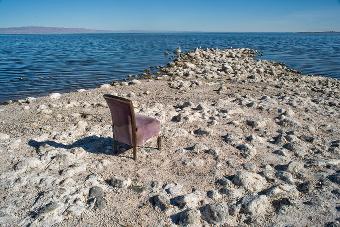 A view from Salton Sea Beach on the western shore of the Salton Sea. Photo: Frank Foster Photo, New York Times
