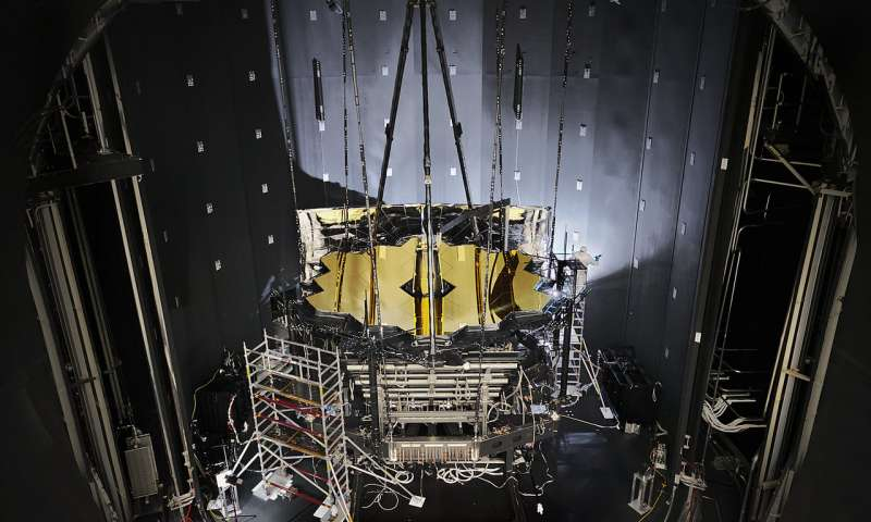 NASA opens the door of the Chamber A, the place where the James Webb Space Telescope spent months in cryogenic testing.