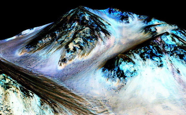 Valleys on Mars' surface probably allowed liquid water to flow many, many years ago.