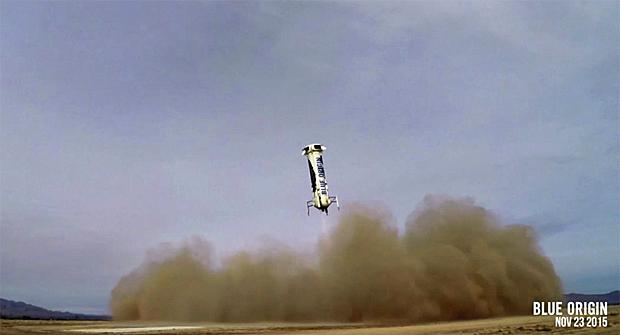 Blue Origin lands safely on Earth soil after a test flight on Monday.