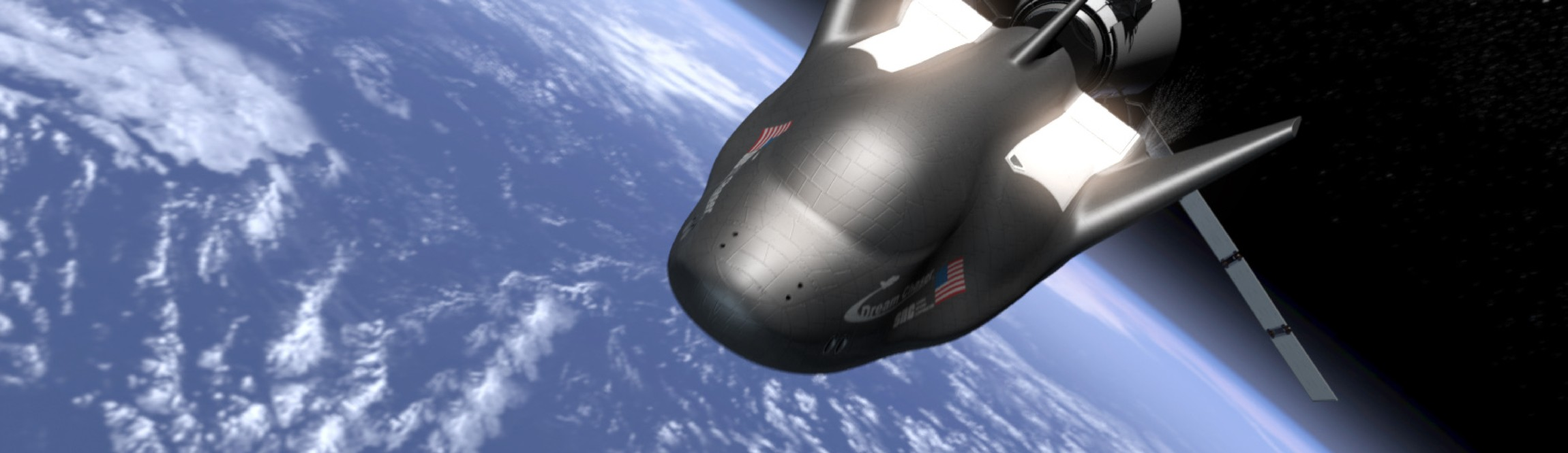 An artist's rendition of Sierra Nevada's Dream Chaser space vehicle.