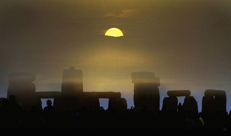 Summer solstice at Stonehenge in 2004. Photo: Ian Waldie/Getty Images