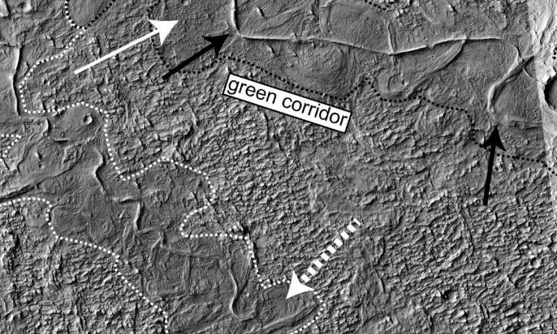 Deposits along Mars' surface tell a story about a wet past.