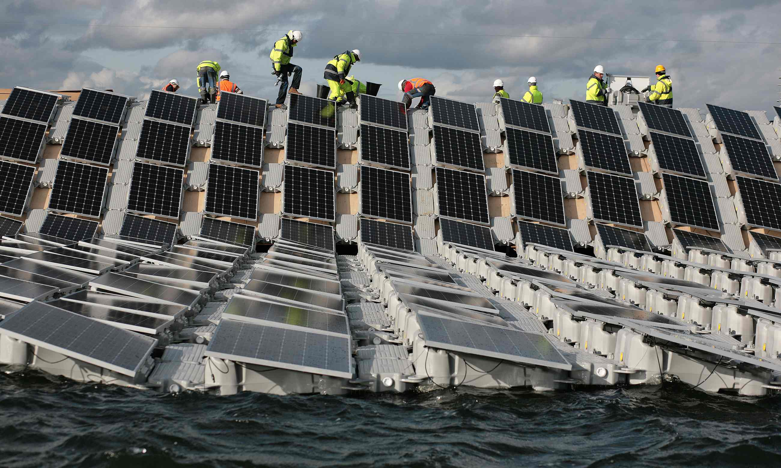 Europe is working on building their largest floating solar farm yet.