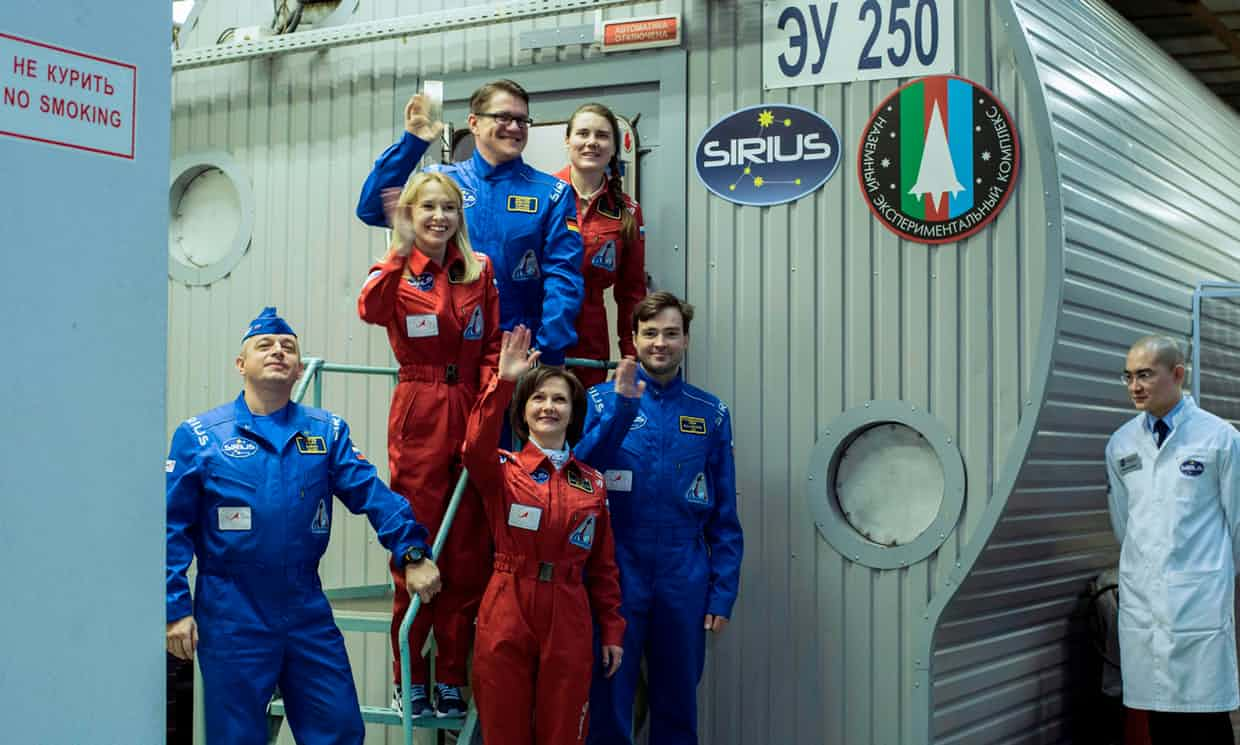 These are the six individuals being locked away inside of the SIRUS-17 simulation spacecraft.
