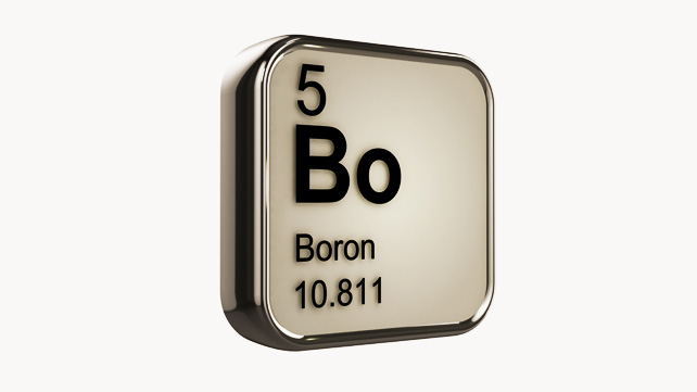 Boron is commonly associated with regions of Earth where water once existed before evaporating away.