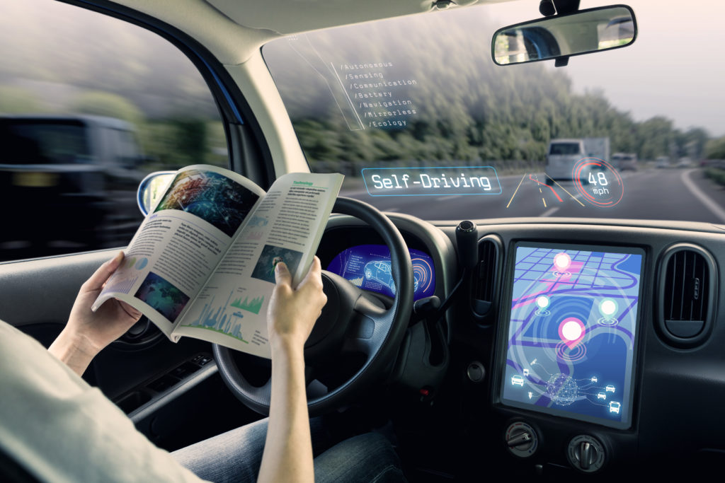 Autonomous cars may encourage us to drive more miles, thus generating higher total emissions. Photo: PBS
