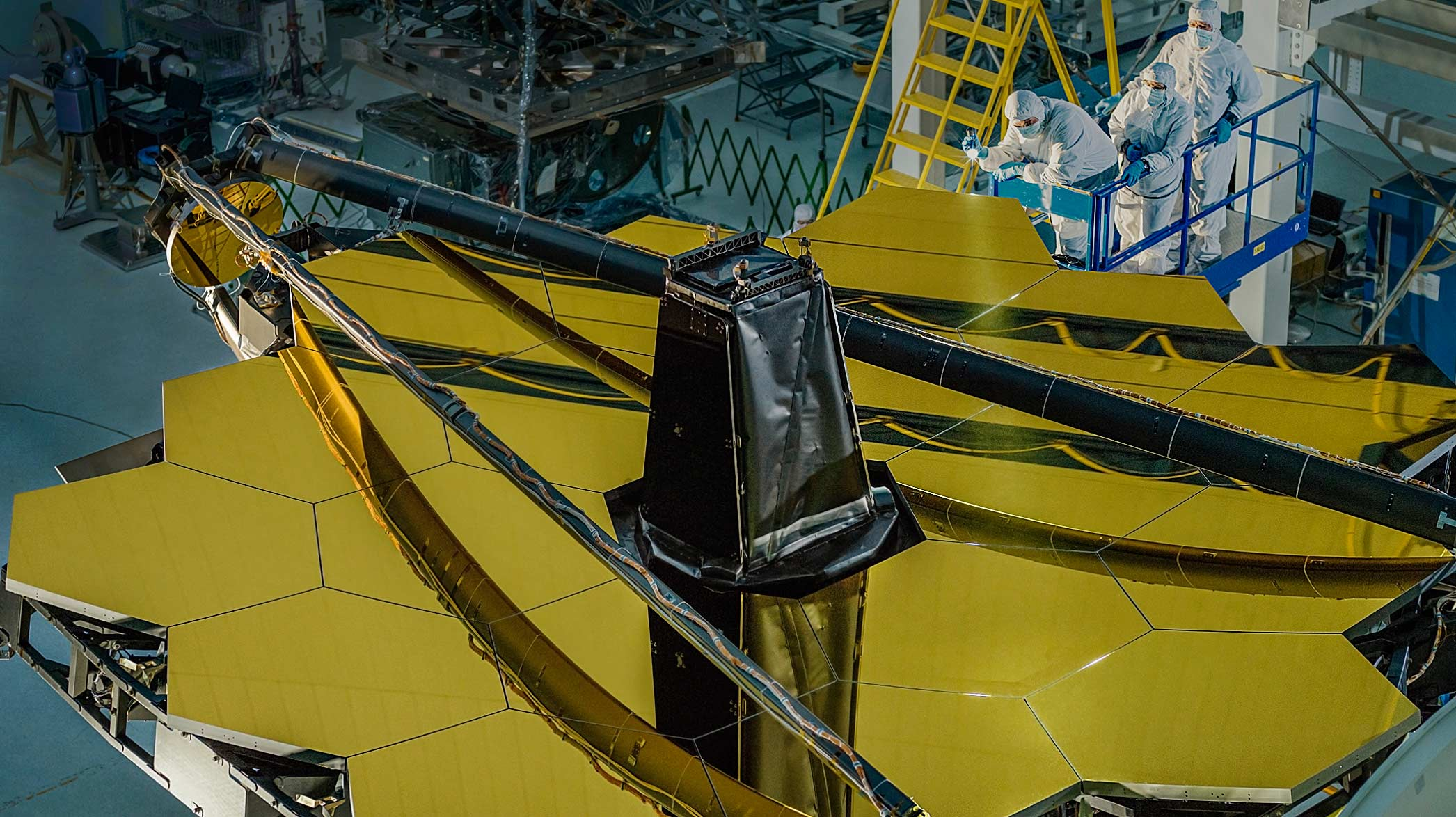 The primary mirror of the James Webb Space Telescope is completed.