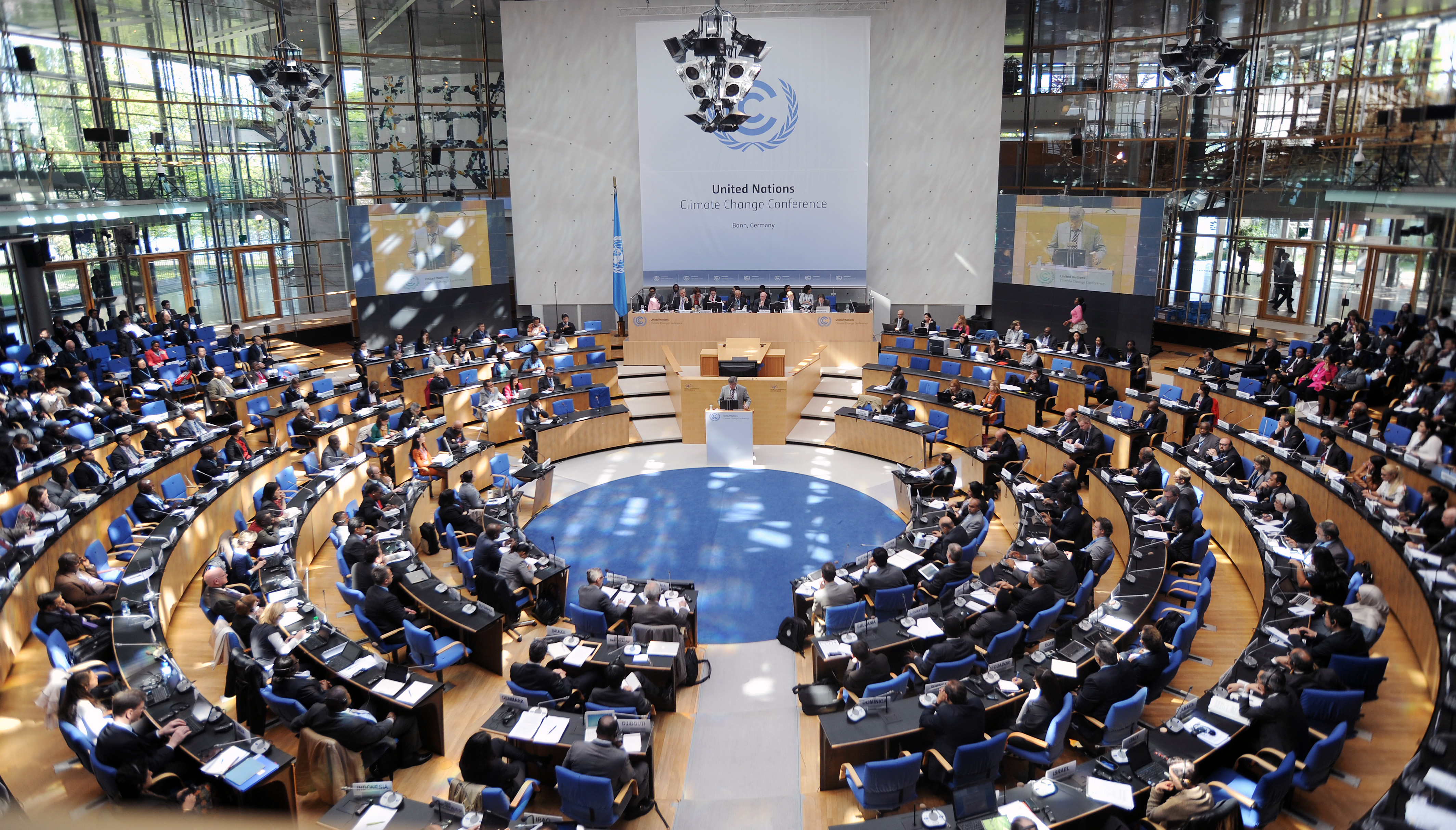 Parties representing the 196 nations committed to the Paris agreement met in Bonn this past week. Photo: IISD Reporting Services