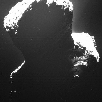 Rosetta snaps first good shot at comet 67P's Southern region.