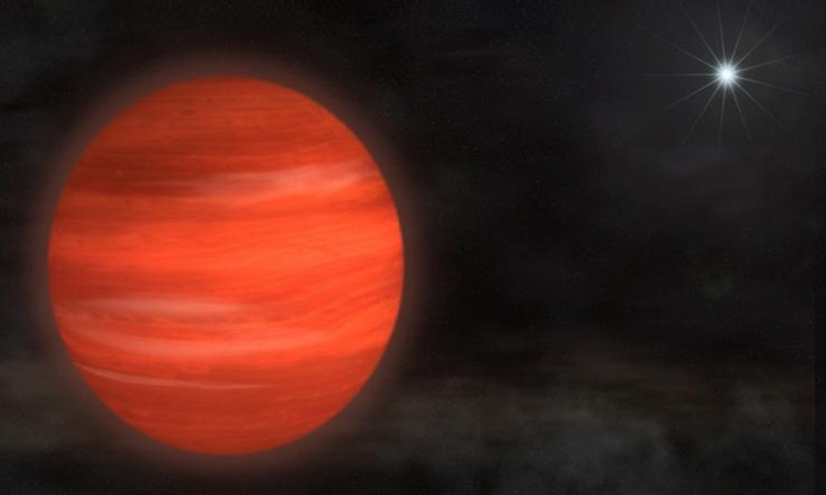 Artist's impression of a Jupiter-like exoplanet.
