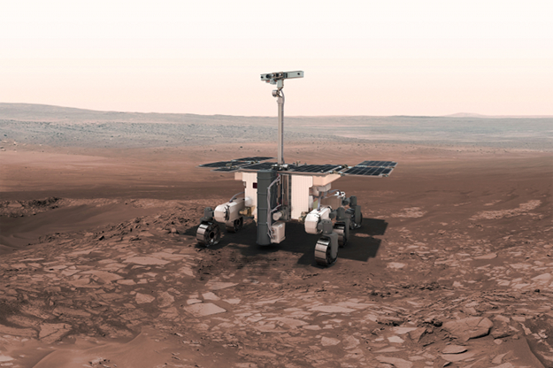 The ExoMars 2020 rover will be carried to Mars on a Russian surface platform.
