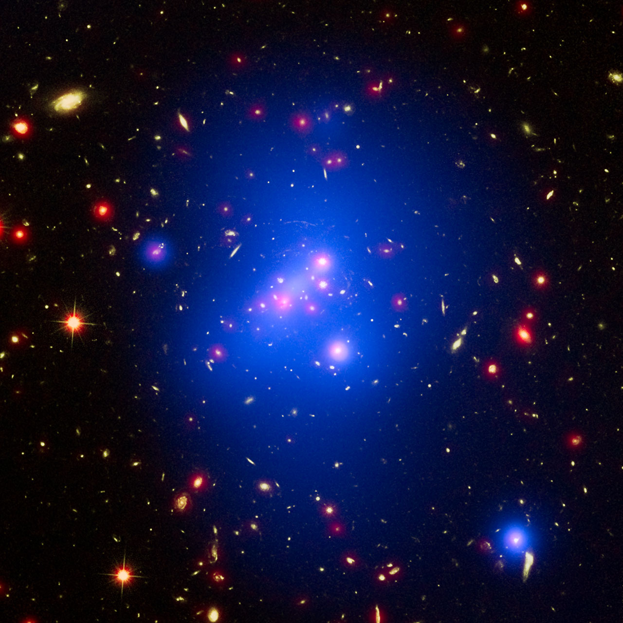 Galaxy clusters are exactly what they sound like; a group of galaxies that are bound together. Astronomers just recently found something very peculiar about iron presence on the outskirts of these clusters.