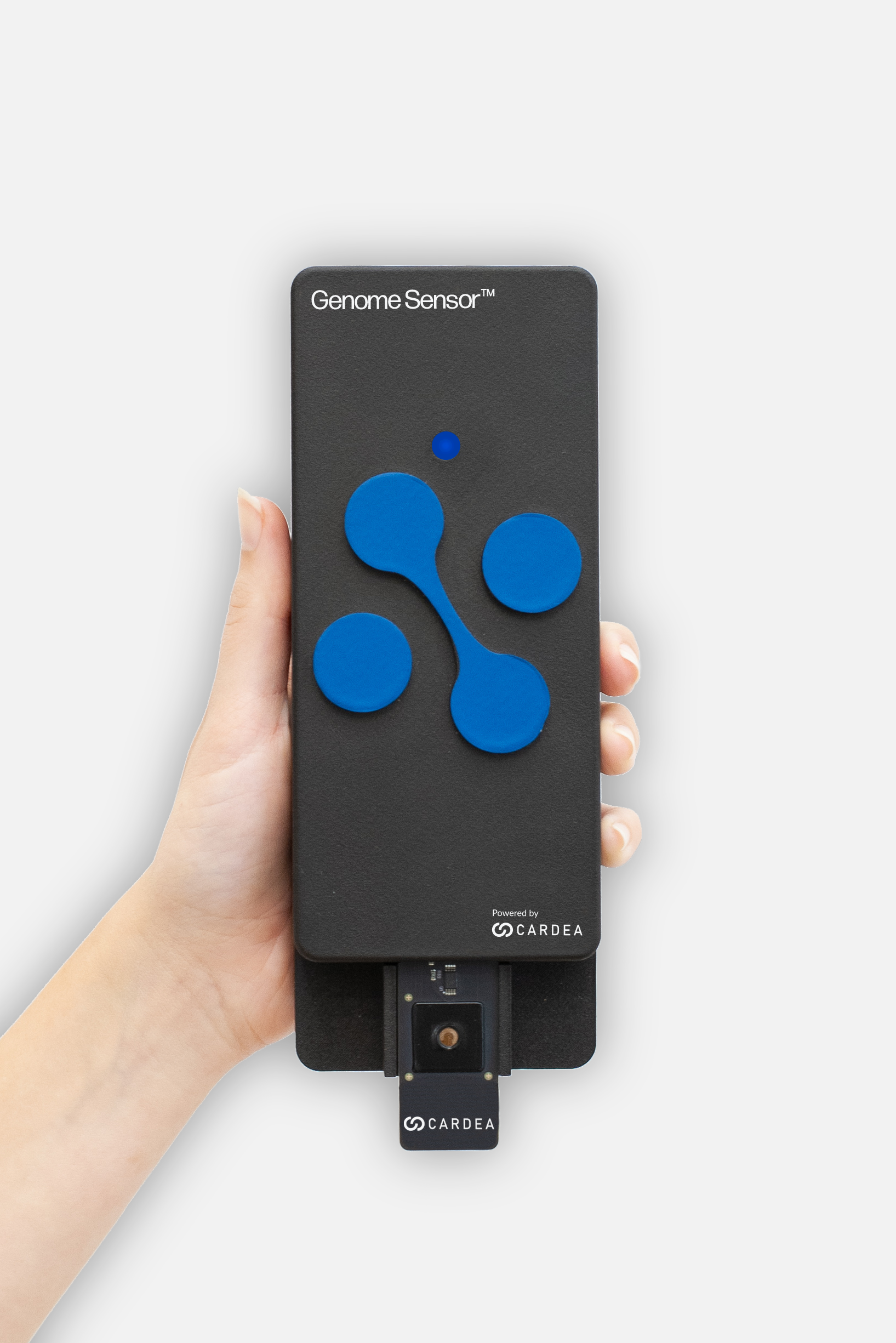 The alpha version of the Nanosens Genome Sensor, a handheld DNA search engine Credit: Courtesy of Cardea Bio