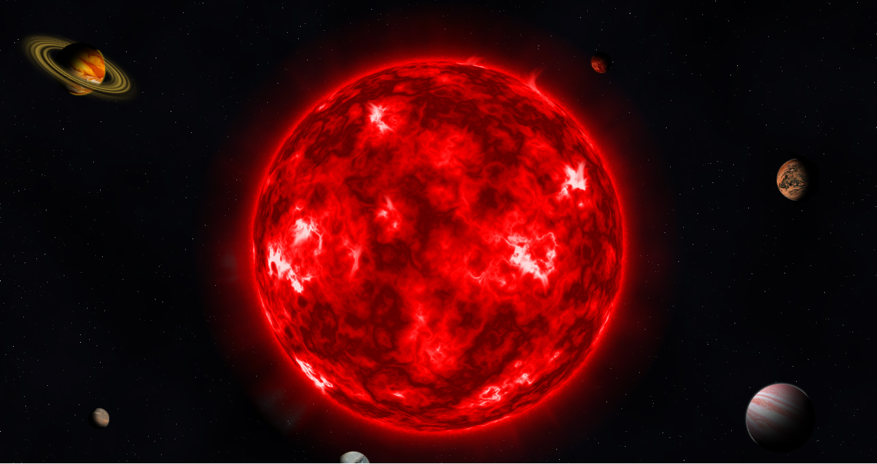 Giant red stars could support exoplanet life too, a study suggests.