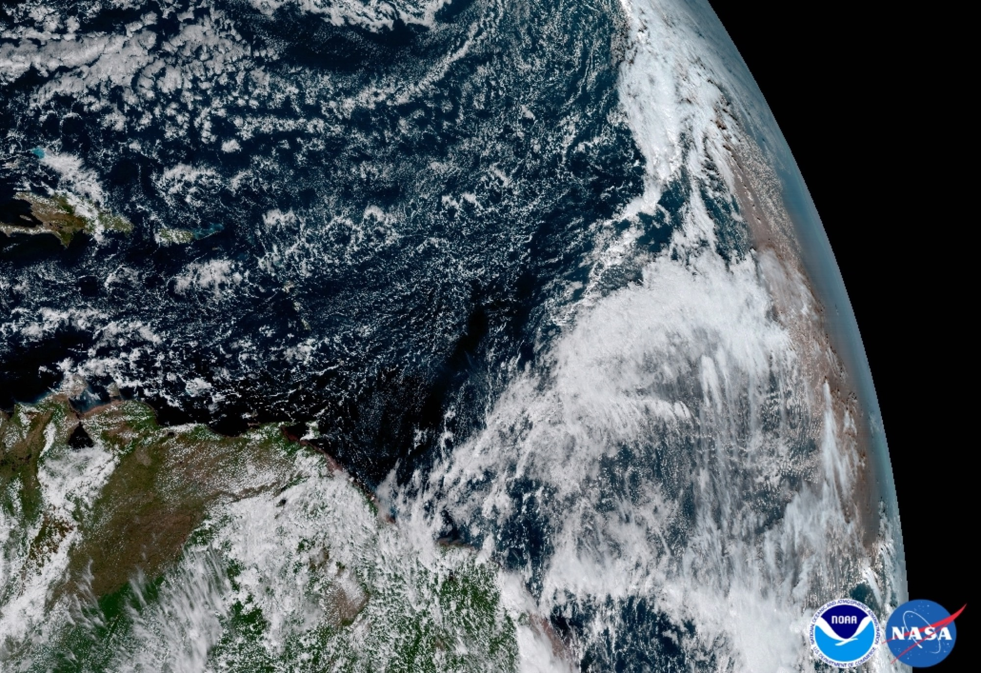 Africa, as seen from GOES-16's point of view.