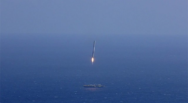 SpaceX will be trying to land a reusable rocket on a ship in the middle of the ocean.
