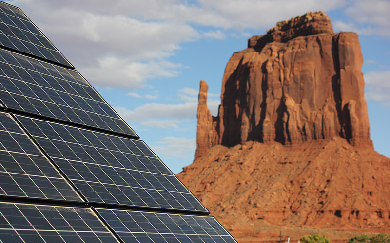 Solar power will bring electricity to many homes in the Navajo Nation. Photo: Cronkite News.